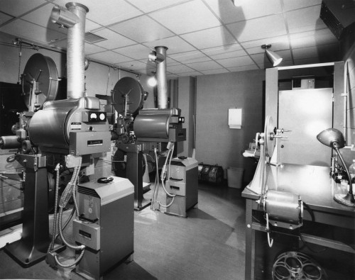 Theater projection room circa 1950s