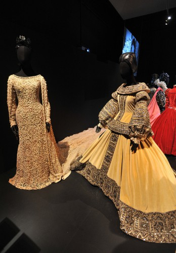 "Larry's ""Queen Christina"" robe at right at the V&A Exhibition"