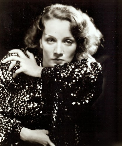 "Marlene Dietrich in ""Morocco."""