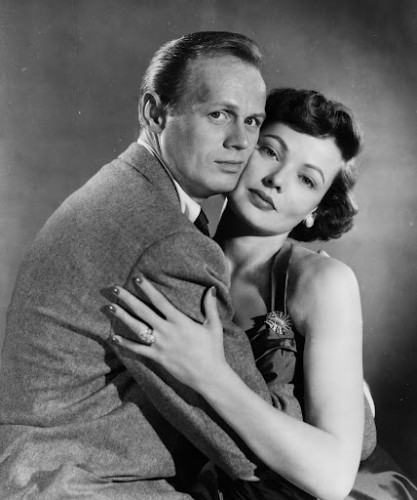 "Richard Widmark and Gene Tierney  in ""Night and the City,"" 1950. Photo courtesy of Photofest."