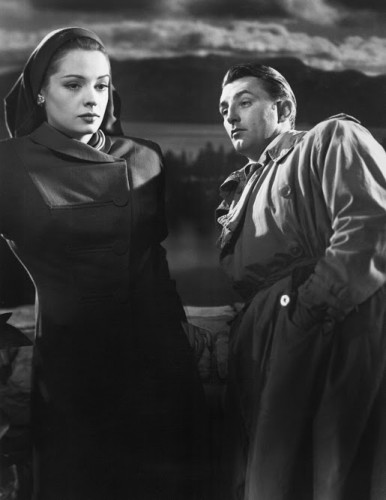 "Jane Greer and Robert Mitchum in ""Out of the Past,"" 1947. Photo courtesy of Photofest."