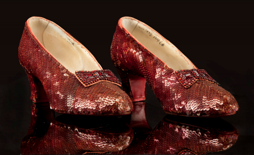 The inked #7 pair of Ruby Slippers originally found by Kent Warner