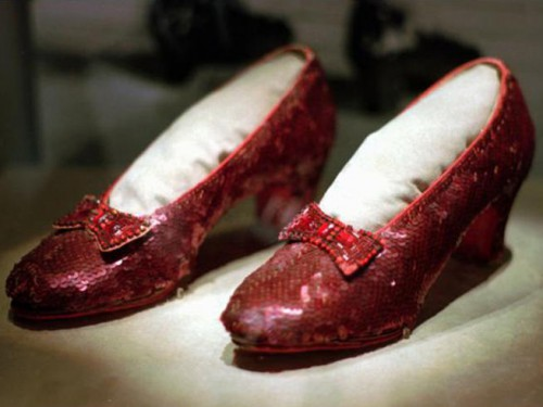 The stolen pair of Ruby Slippers