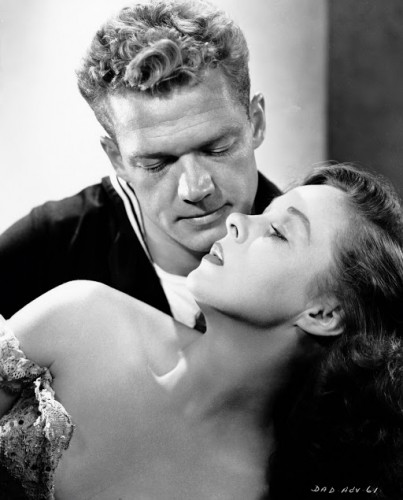 "Susan Hayward and Bill Williams star in ""Deadline at Dawn,"" 1946. Photo courtesy Photofest."