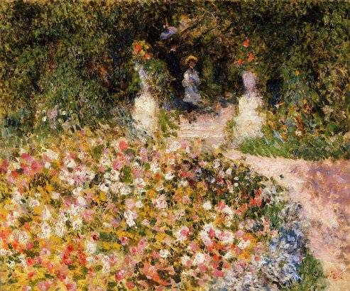 A garden painted by Renoir