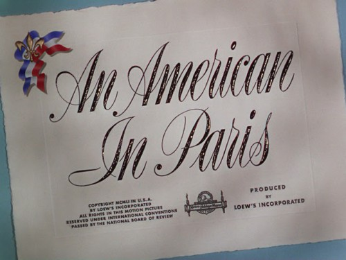 An American in Paris title card 1