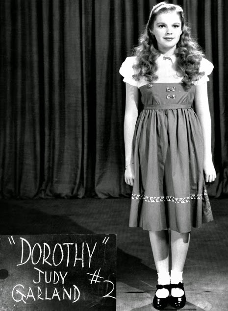 Oz early wardrobehair test of Judy Garland as Dorothy Gale
