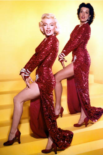 Gentlemen Prefer Blondes (1953) Directed by Howard Hawks Shown: Marilyn Monroe (as Lorelei Lee), Jane Russell (as Dorothy Shaw) Song: A Little Girl from Little Rock
