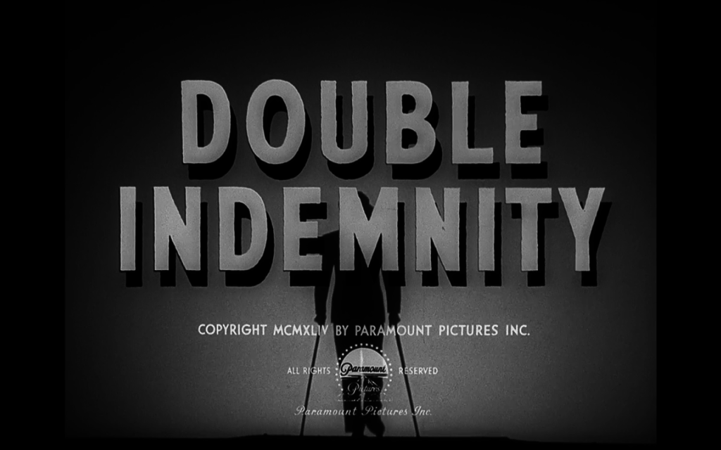Double Indemnity Title