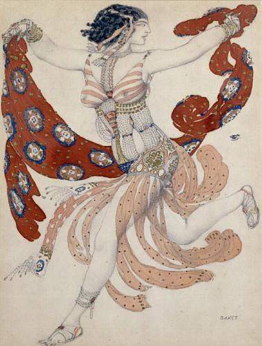 Design of costume for Ida Rubinstein 1909 in Cleopatre