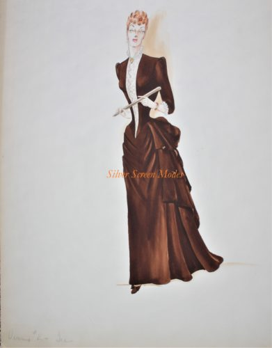 "Costume sketch by Milo Anderson for Irene Dunne in ""Life with Father,"" 1947."